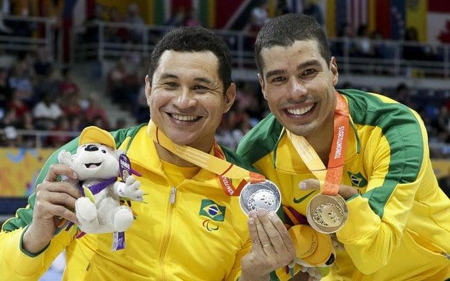 Clodoaldo Silva e Daniel Dias nadadores paralímpicos