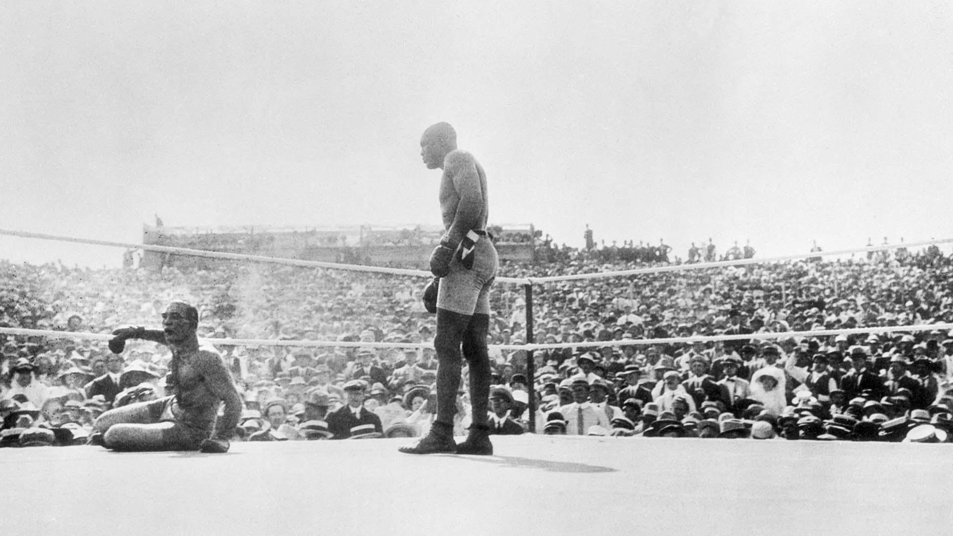 melhores lutas de boxe Jack Johnson x James Jeffries