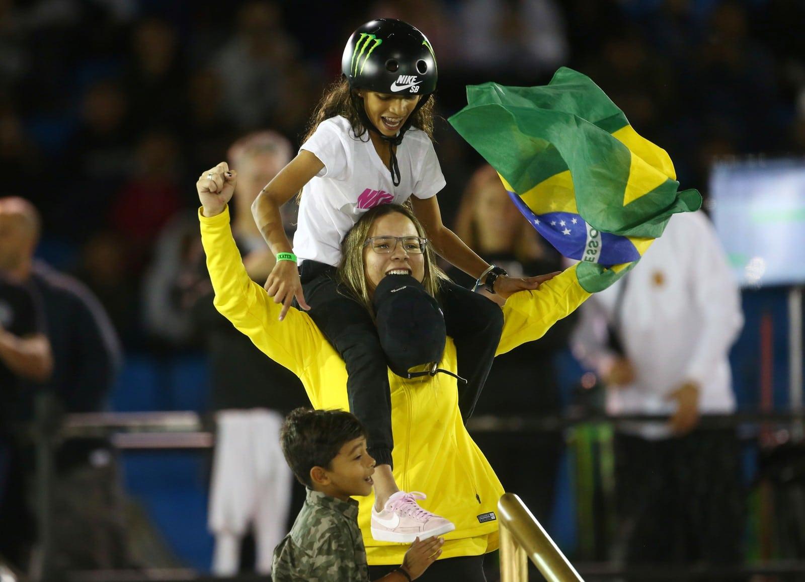 Pamela Rosa campeã mundial e Rayssa Leal vice mundial de skate street