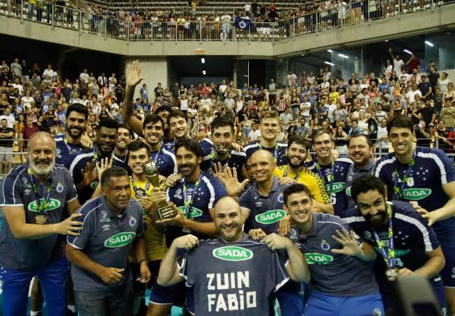 Sada Cruzeiro campeão da Copa Brasil de Vôlei Masculino