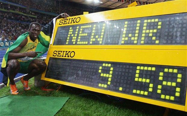 Usain Bolt recorde mundial nos 100m