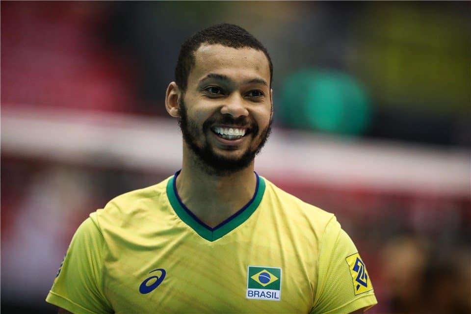 Alan Souza melhor jogador de vôlei do mundo na Copa de 2019