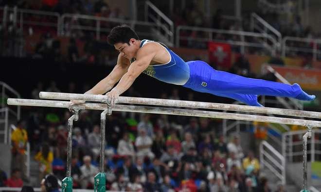 Barras Paralelas na ginástica