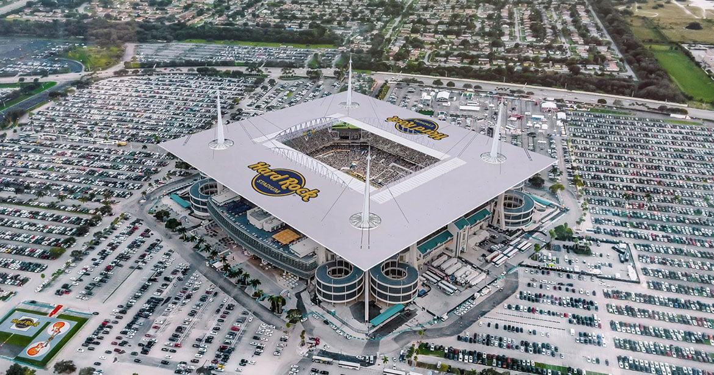 Hard Rock Stadium casa do Miami Dolphins