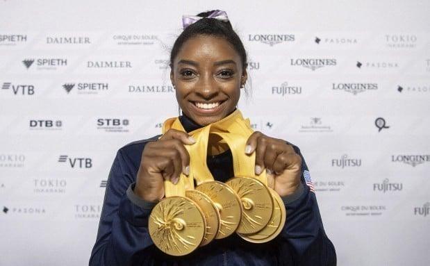 Medalhas de Simone Biles em Mundiais de Ginástica