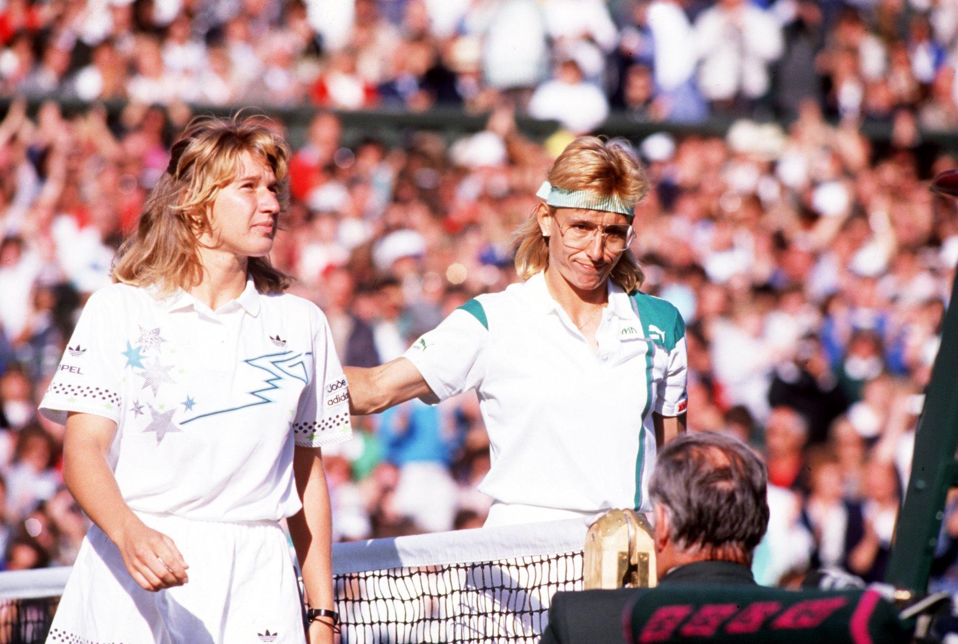 Steffi Graf e Martina Navratilova maiores rivalidades do tênis