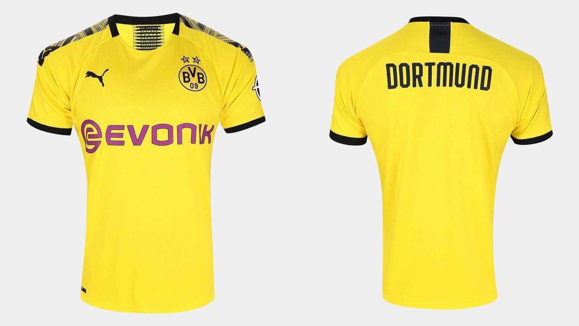 uniforme titular borussia dortmund 2019 20