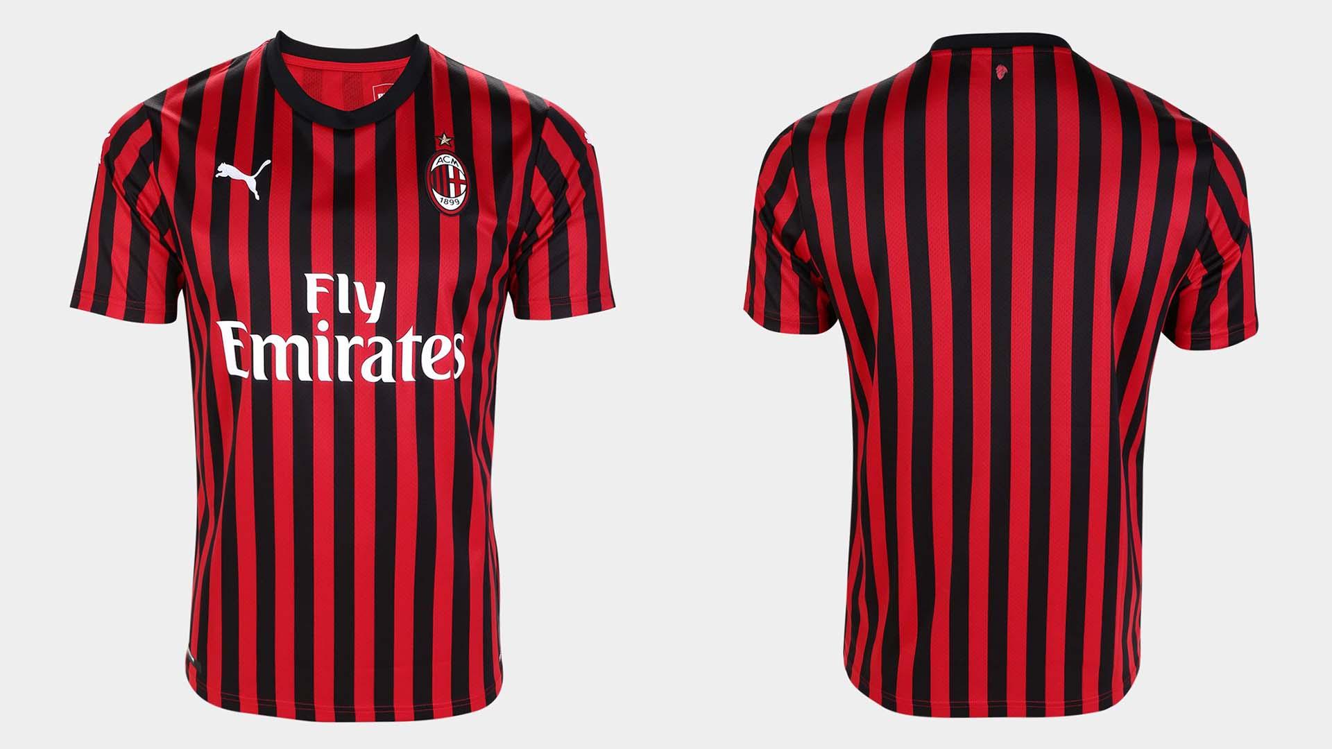 uniforme titular milan 2019 20
