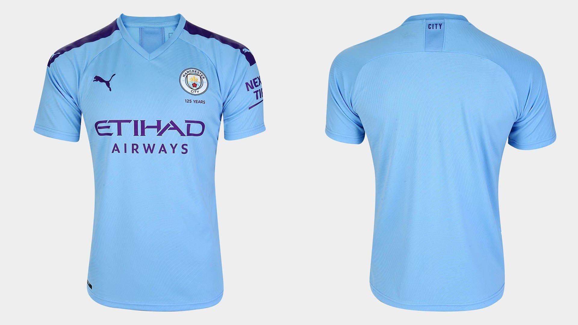 uniforme titular manchester city 2019 20