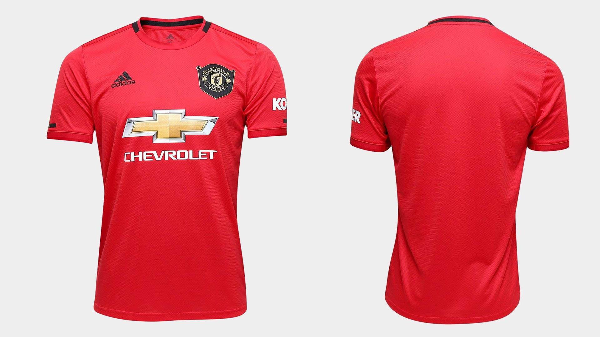 uniforme titular manchester united 2019 20