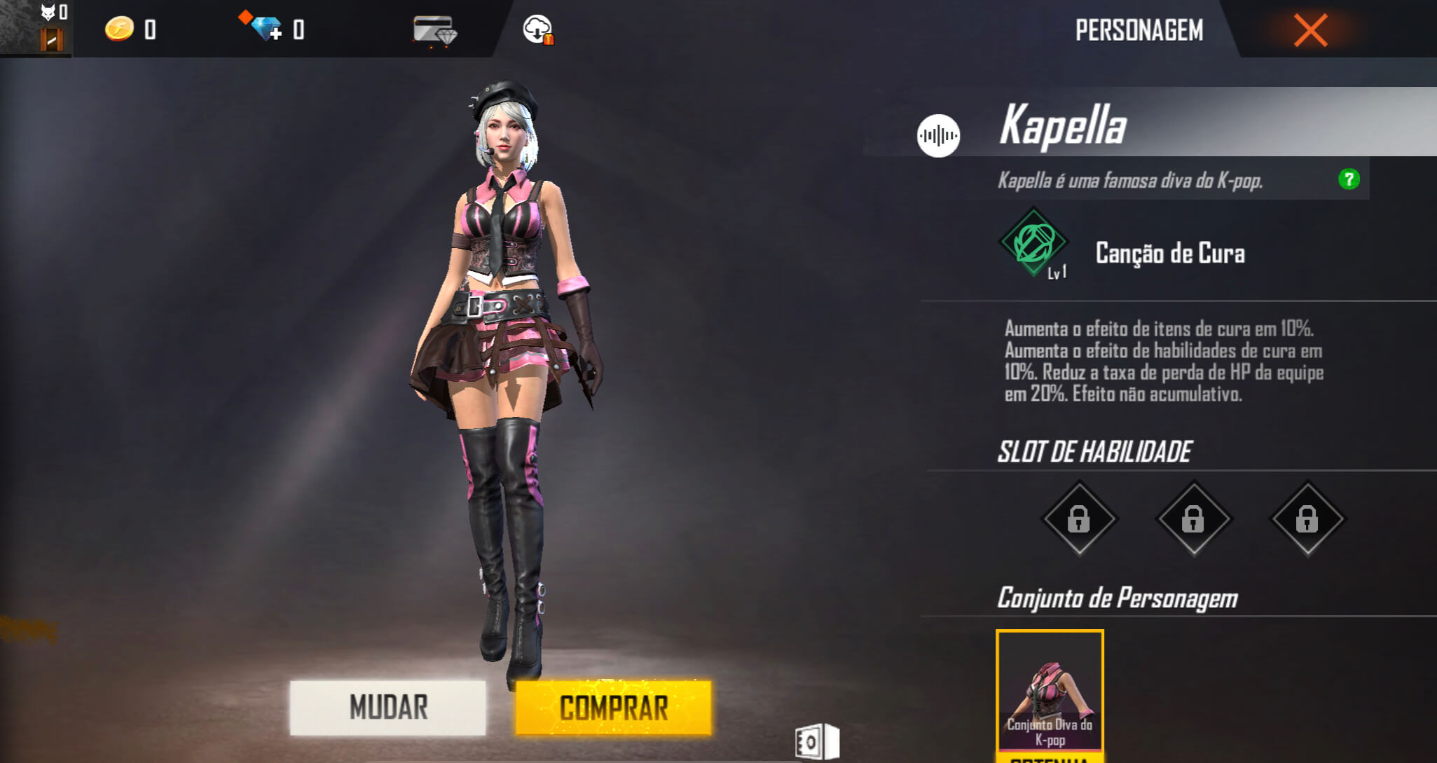 Personagens do Free Fire Kapella