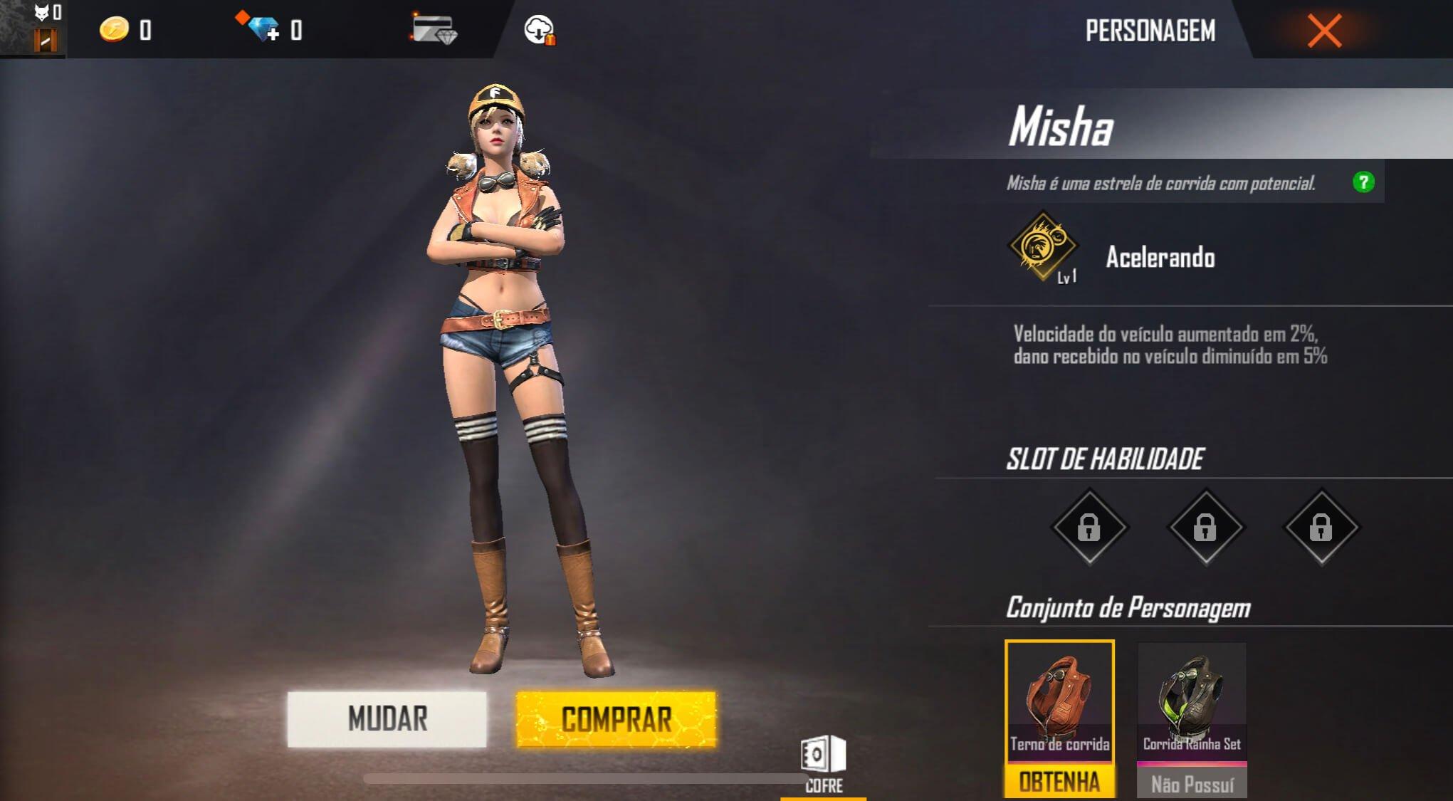 Personagens do Free Fire Misha