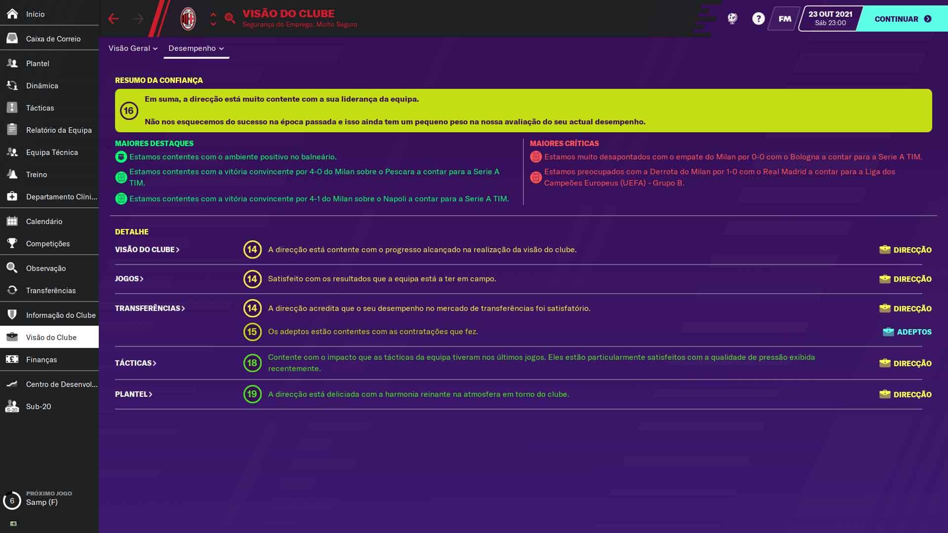 objetivos football manager