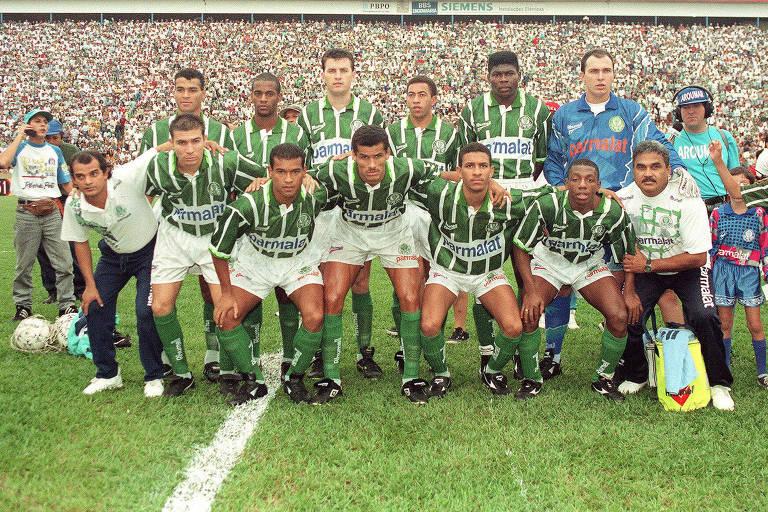 A foto do título do Campeonato Paulista de 1996