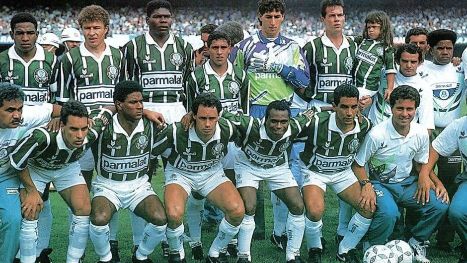 Foto do time do título do Palmeiras no Campeonato Paulista de 1993