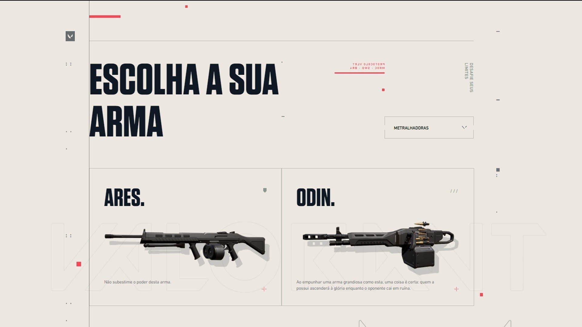 metralhadoras do valorant