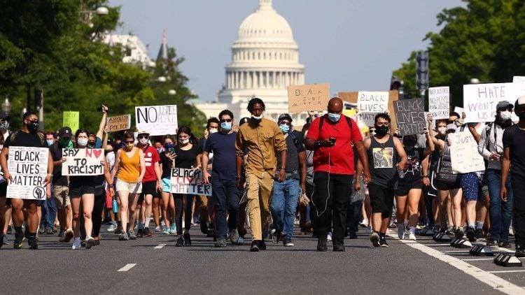 Foto de protesto em Washington