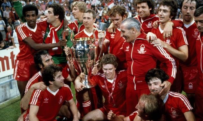 Nottingham Forest campeão da Liga dos Campeões da Europa maiores zebras da Liga dos Campeões