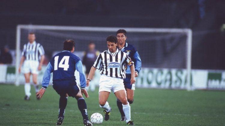 Roberto Baggio durante jogo da Juventus