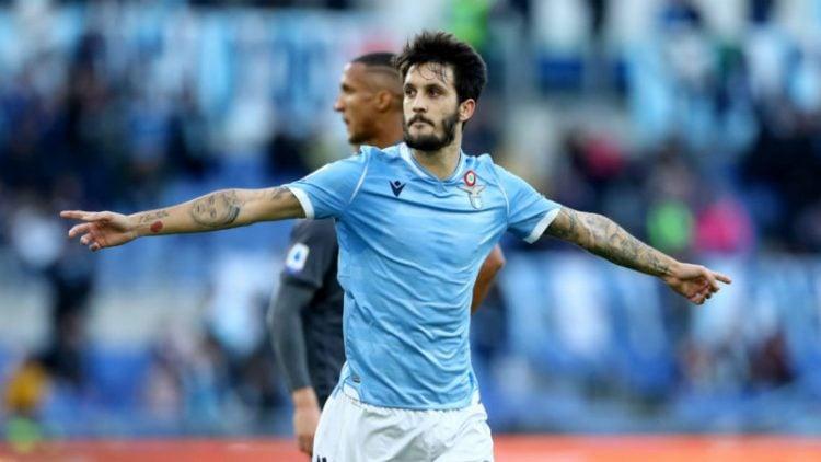 Luis Alberto comemora gol pela Lazio