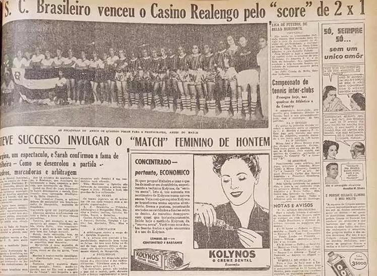 Recorte do Jornal Estado de Minas, de 1940
