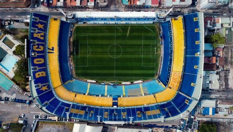 foto área da Bombonera, estádio do Boca Júniors