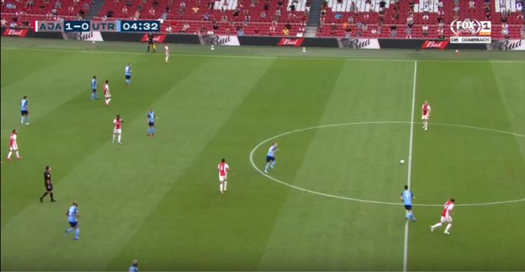 Frame de partida do Ajax, da Holanda