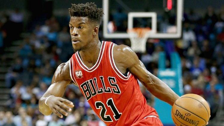 Jimmy Butler jogando pelo Chicago Bulls