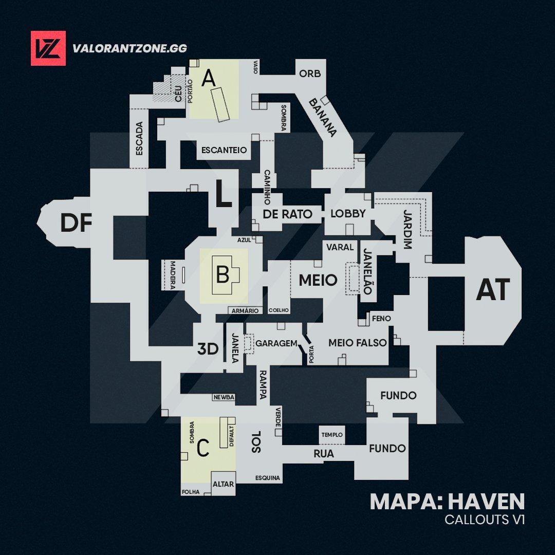 Mapa Haven do Valorant