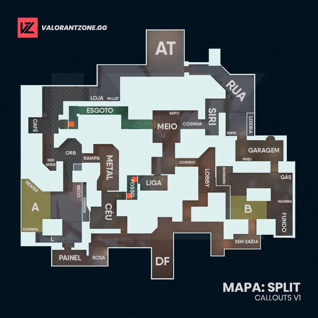 Mapa Split do Valorant