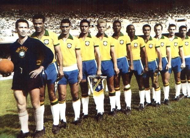 Seleção Brasileira na inauguração do Mineirao em 1965
