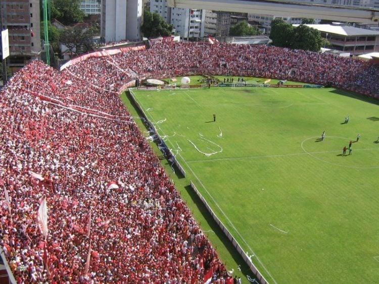 Foto do Estádios dos Aflitos, em Pernambuco