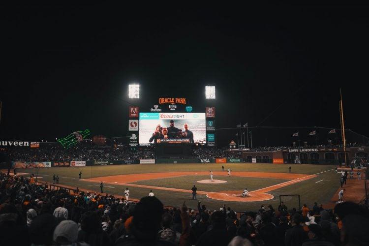 Imagem de estádio de beisebol