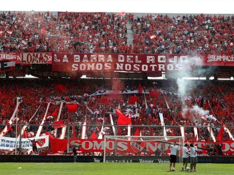 Imagem da torcida do Independiente
