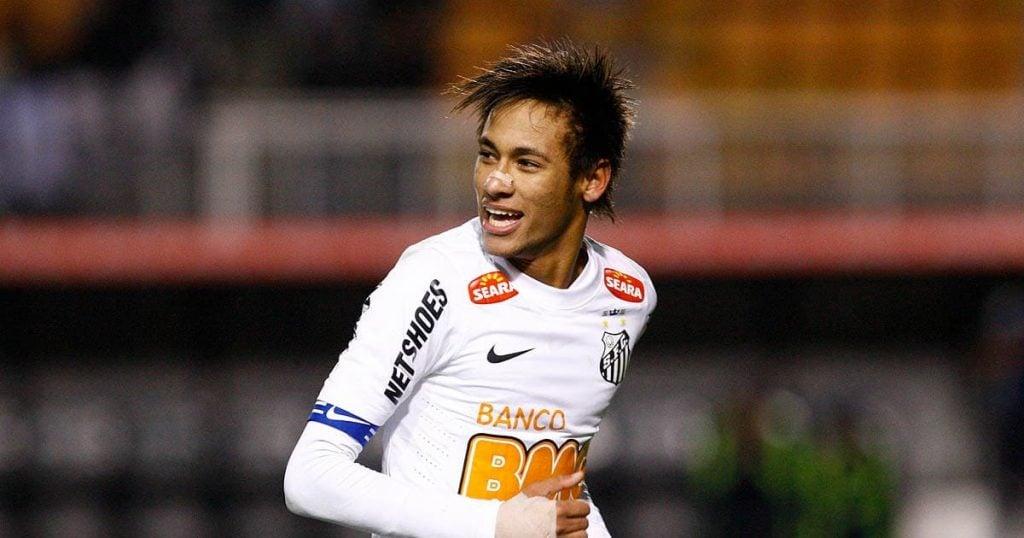 Neymar, ídolo do Santos