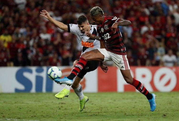 Imagem de jogo entre Flamengo e Vasco, em 2019