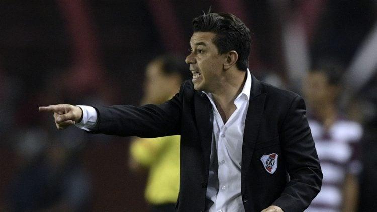 Marcello Gallardo durante jogo do River Plate