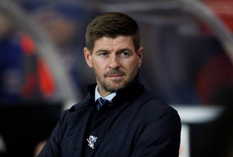 Imagem de Steven Gerrad como treinador do Rangers