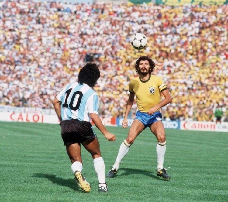 Socrates e Maradona em 1982