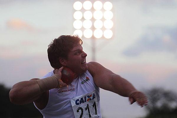 Darlan Romani durante o Troféu Brasil de Atletismo
