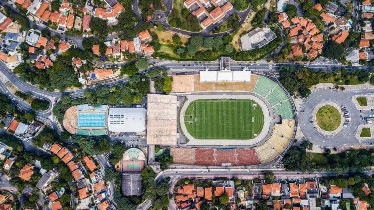 Imagem aérea do Pacaembu