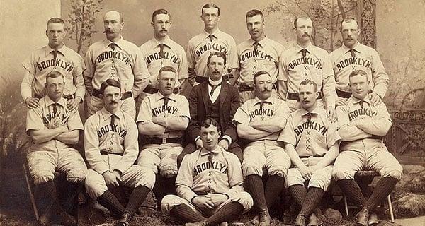 Imagem do time do Dodgers no século XIX