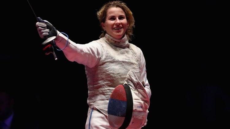 Inna Deriglazova, a melhor pontuadora entre todas as modalidades da esgrima