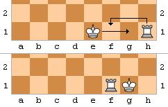 Roque curto, um dos princpais movimentos do xadrez