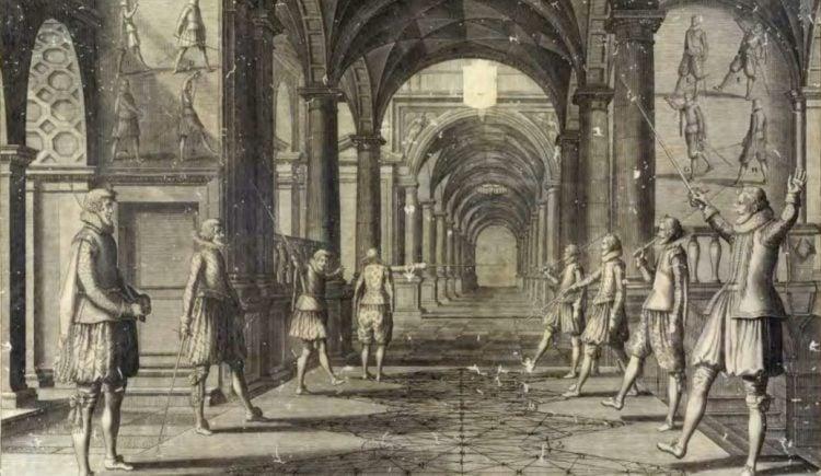 """Academie de l'Espée de Girard Thibaultera"", de Girard Thibault."