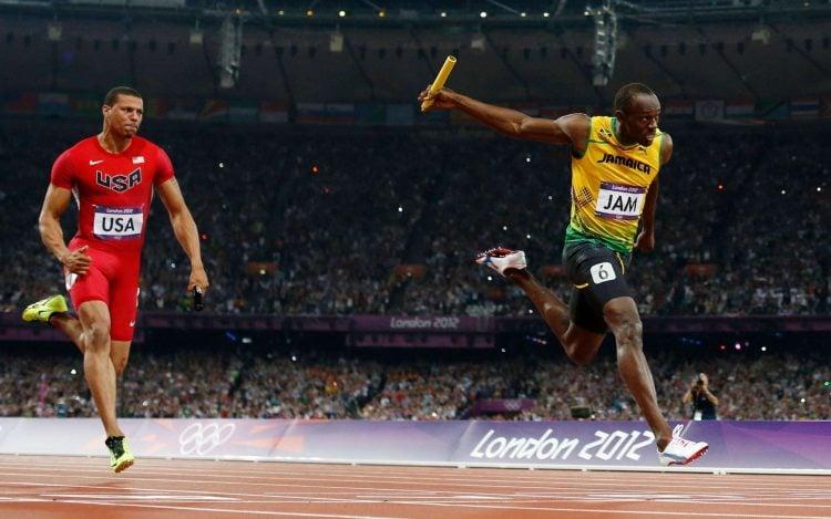 Usain Bolt esteve na equipe que quebrou o recorde mundial de revezamento 4x100
