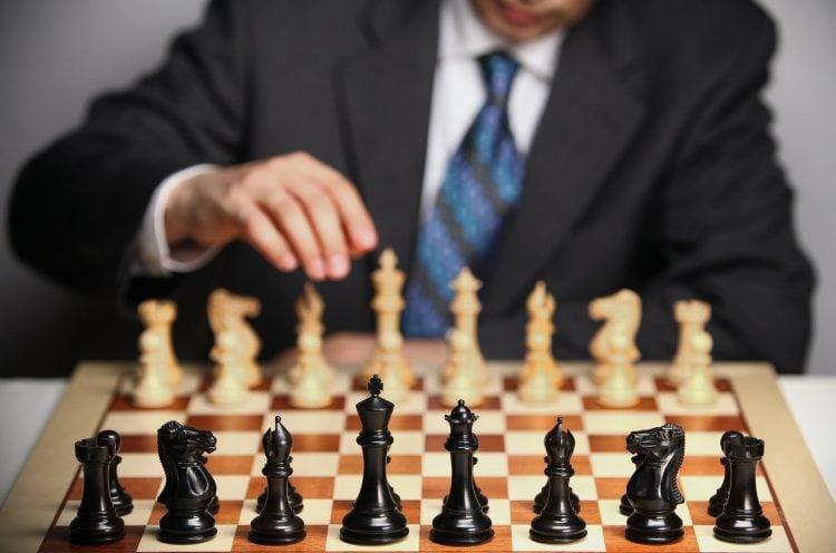 Tabuleiro de xadrez montado