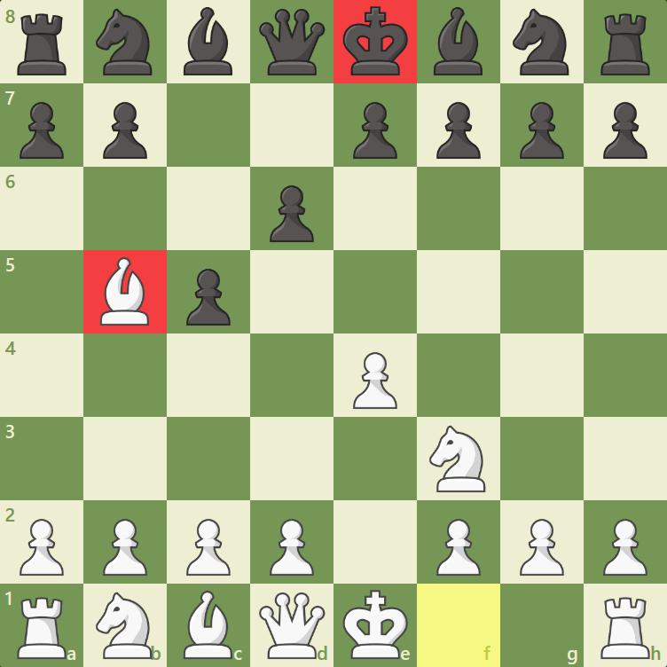 Xeque no Rei preto
