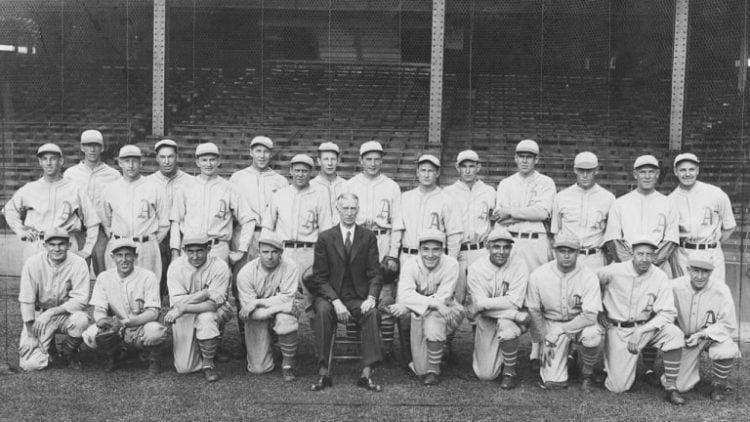 O Philadelphia Athletics foi um dos melhores times de beisebol de todos os tempos
