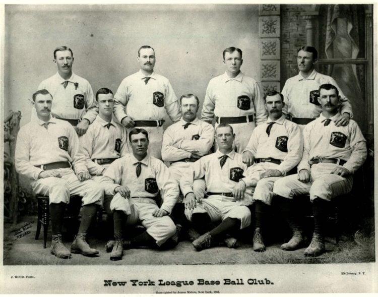 Foto do New York Gothams, no começo da história do San Francisco Giants